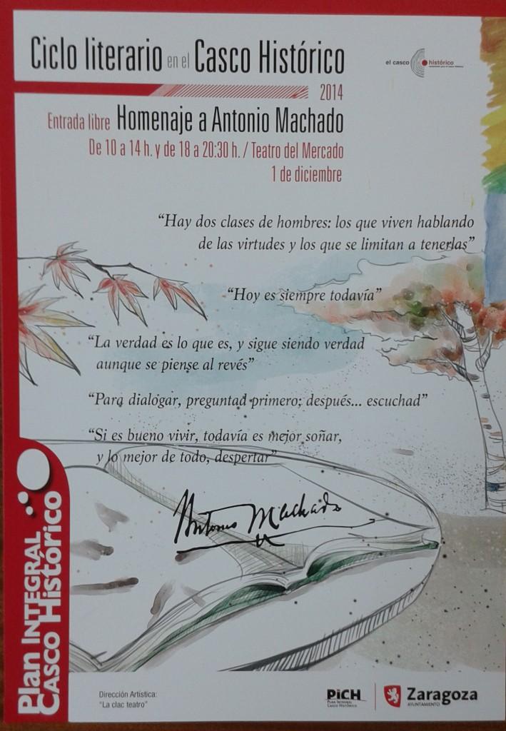 2014_12_01 CARTEL Ciclo Literario PICH Antonio MACHADO 01-N
