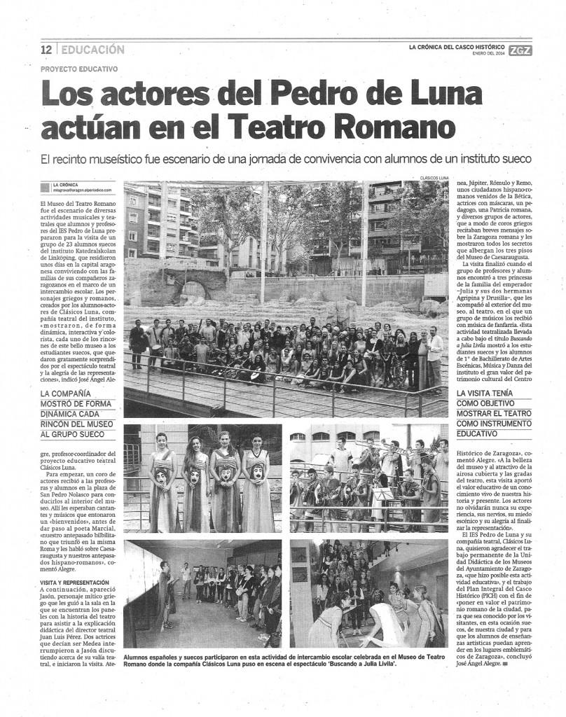Clasicos Luna 2013-14 BUSCANDO a JULIA Cronica-CH pagina-N