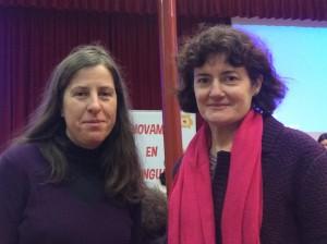 María y Elvira en jornada de difusión autonómica de Aragón